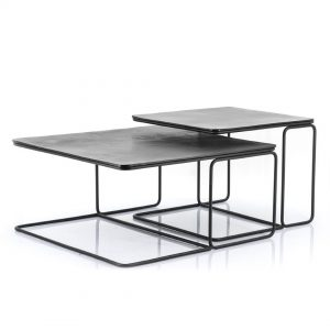 Design salontafel set aluminium